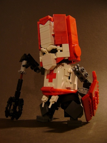 Castle Crashers Knight Remade In Lego