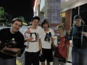 Matt, Jake, Sam, Kier and Jeff were the first five people to walk out of the store with StarCraft II.