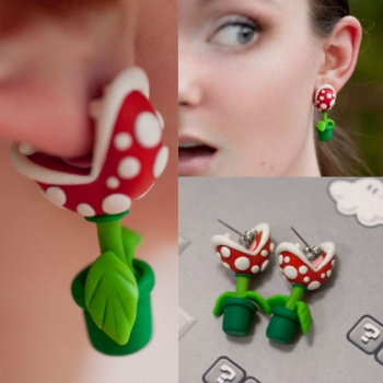Piranha Earrings