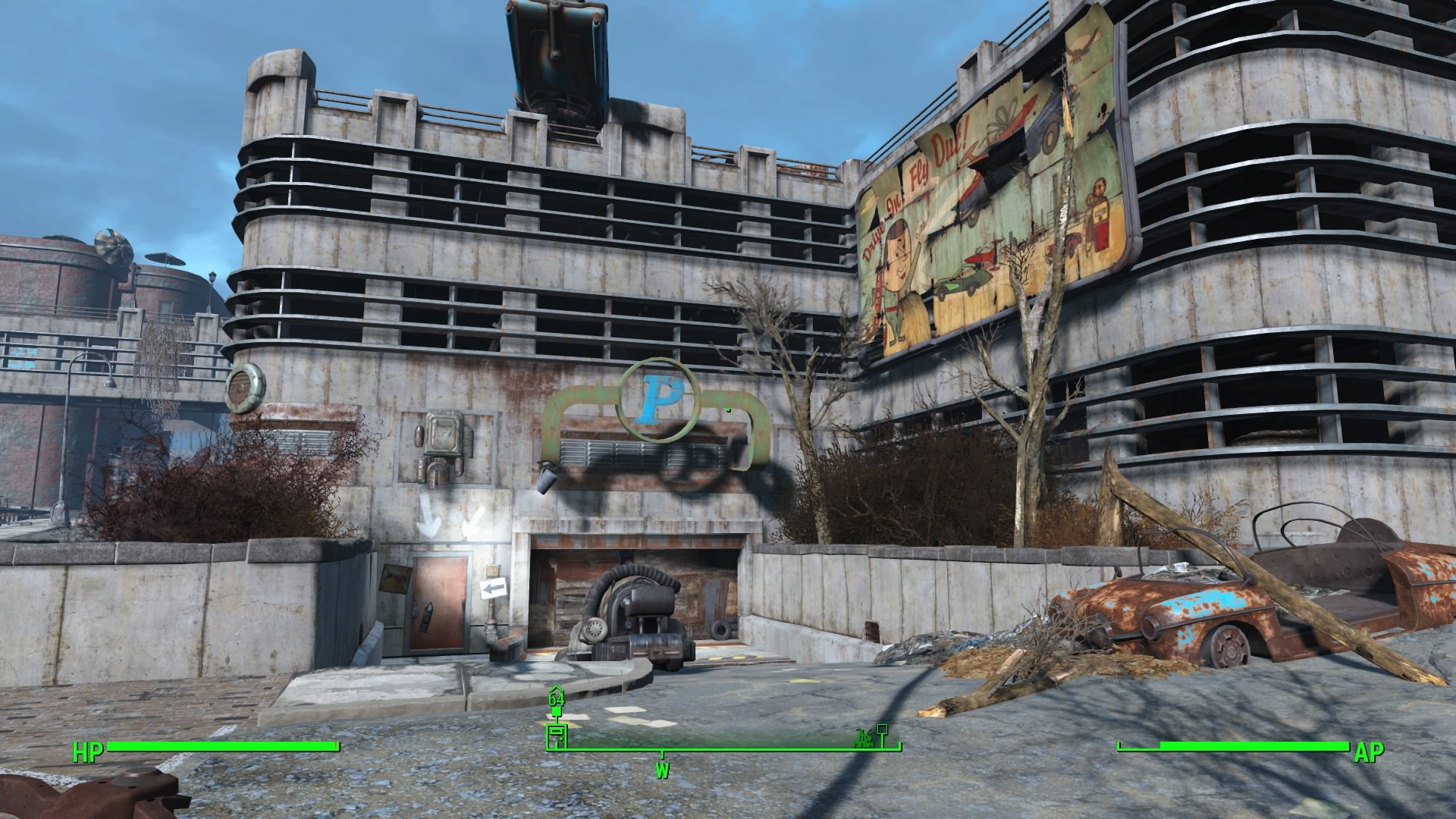Fallout 4 Unmarked Parking Lot Maze Guide Walkthroughs