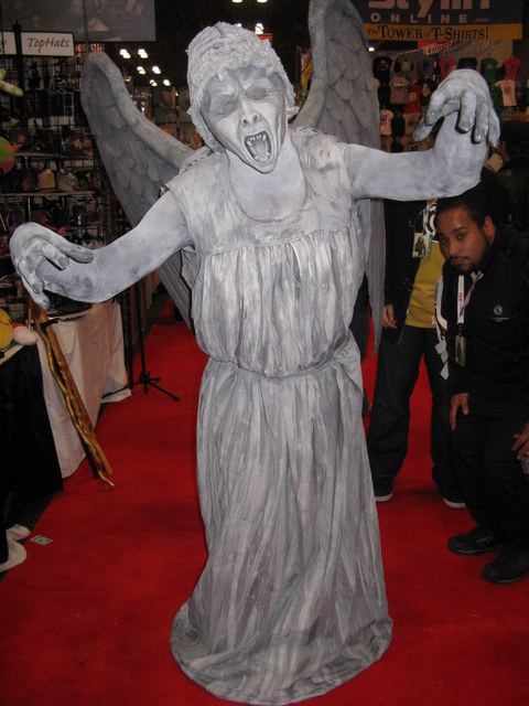 the obligatory but still creepy weeping angel from doctor who
