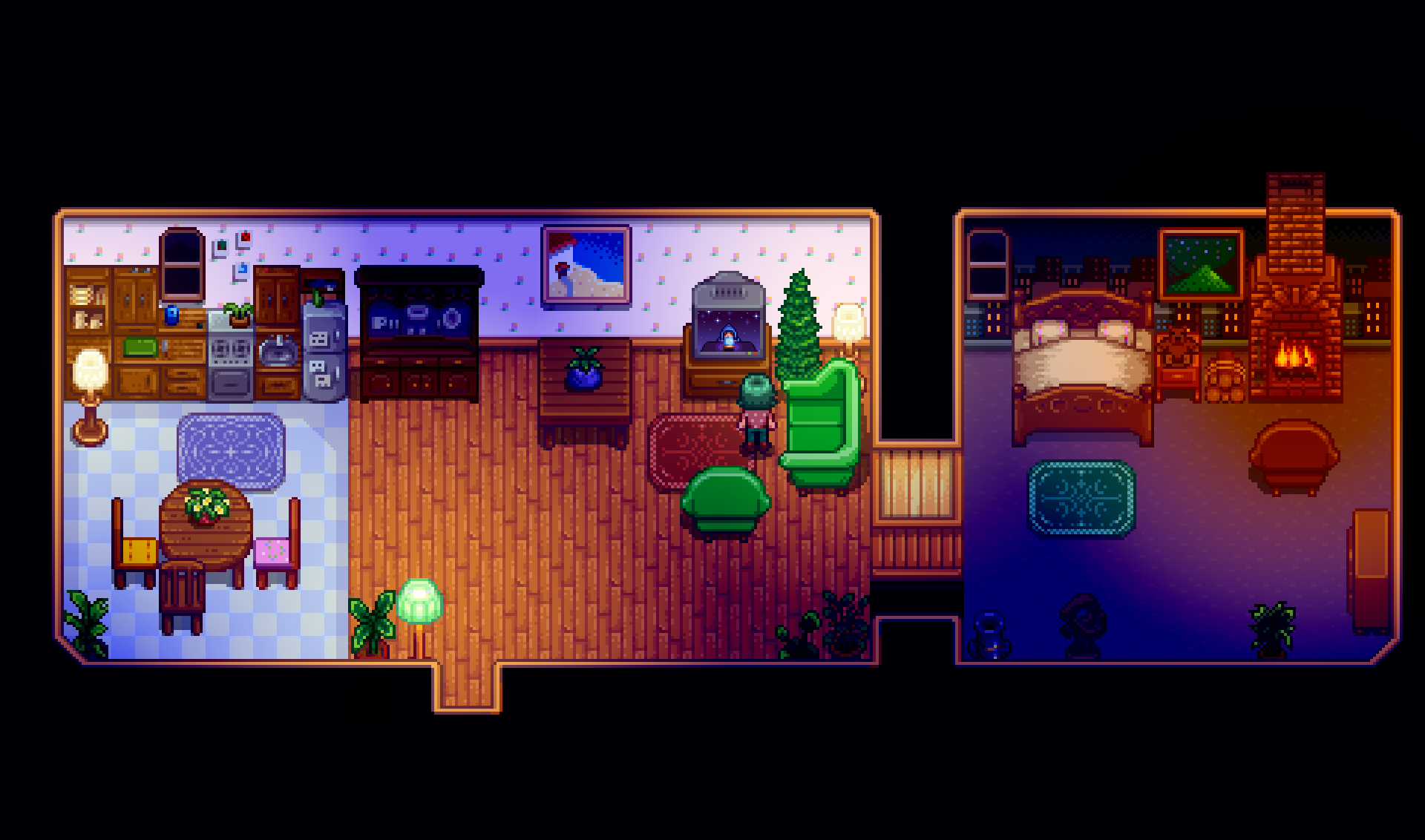 House design stardew valley - As Well As Being A Beautifully Designed Stardew Valley Is Also Just Plain Beautiful The Pixel Art Style Is Simple But Charming And Really Does A Great