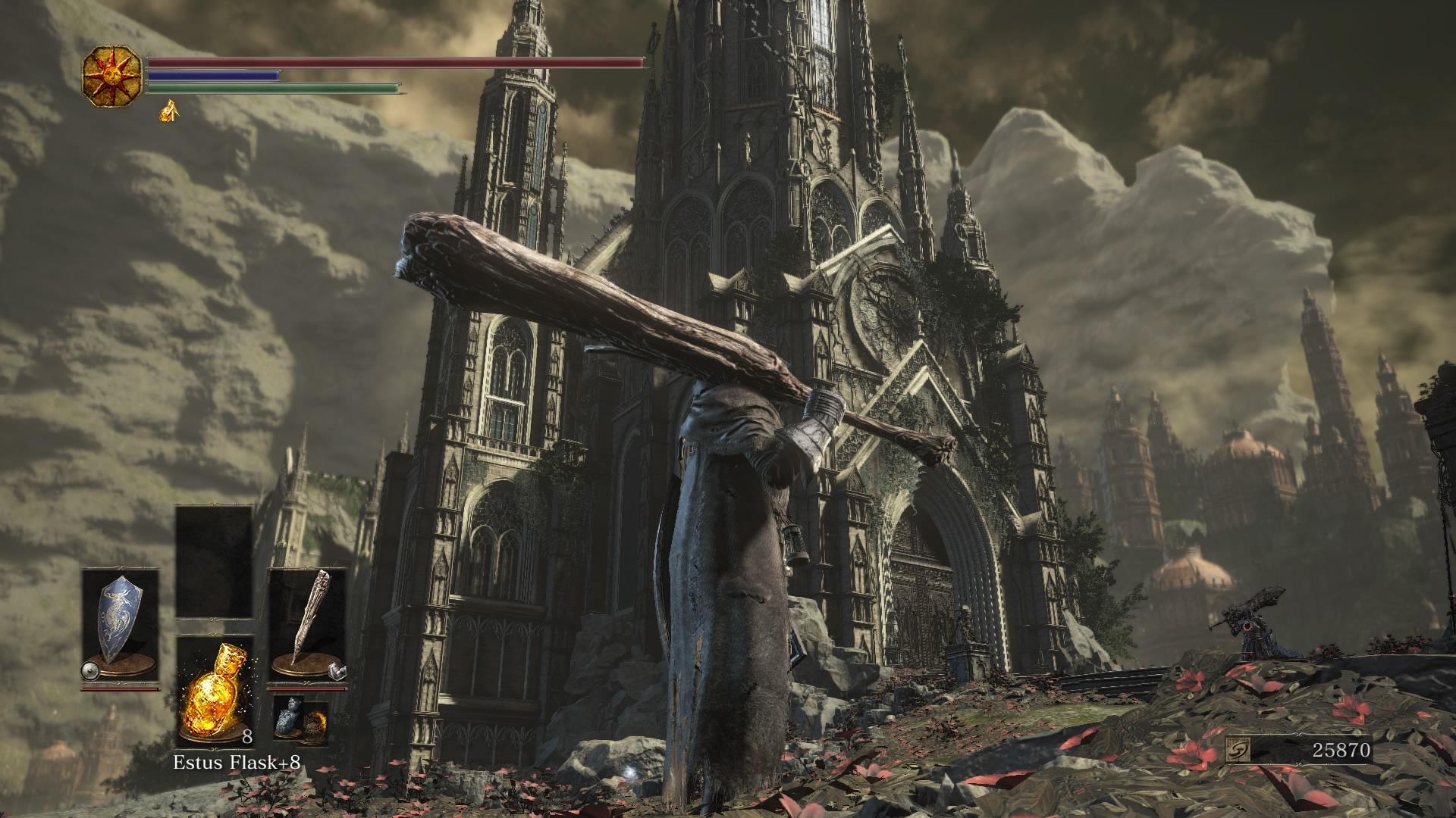 Dark souls 3 the ringed city full walkthrough the ringed city when midir is down cross the bridge to reach the door lit by two torches up the stairs pass by the statue of gwyn to reach the exterior of the church of biocorpaavc Gallery