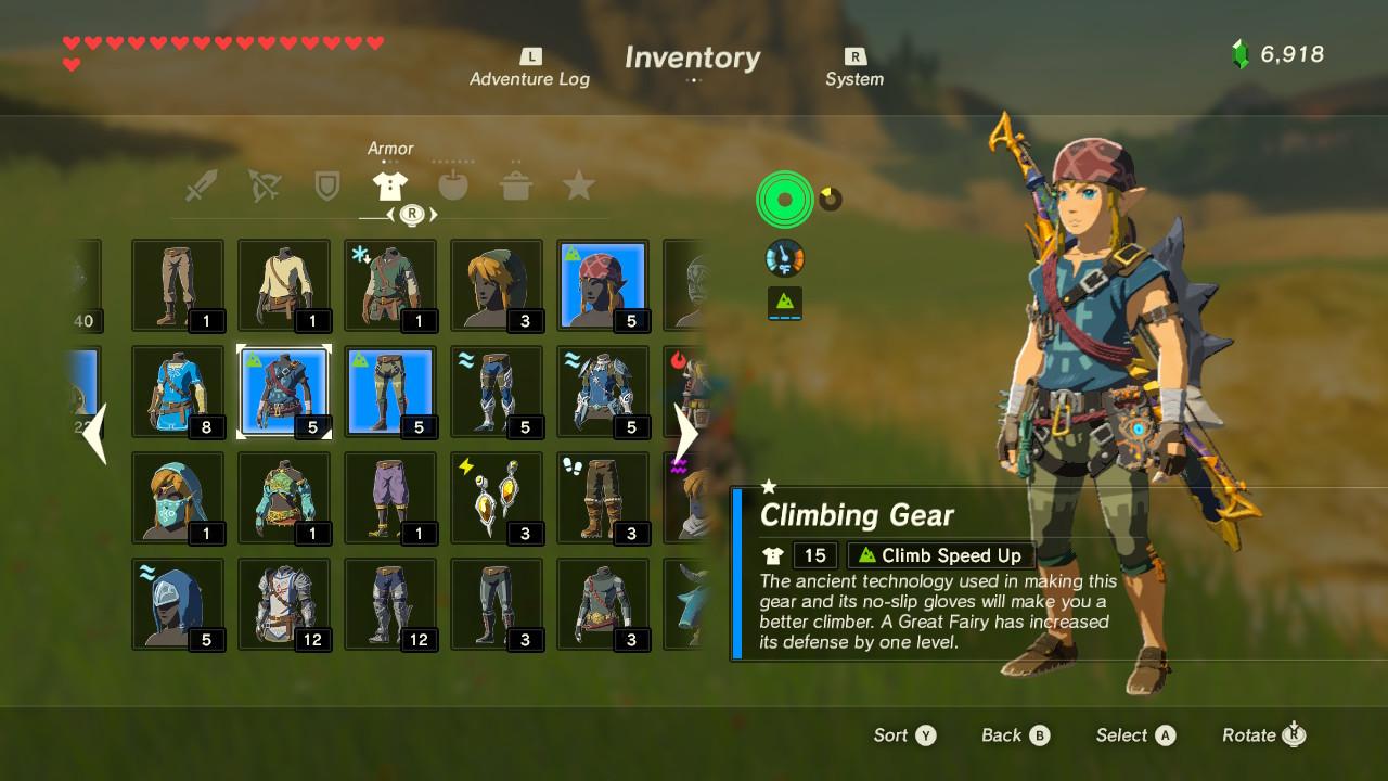 Legend of Zelda: Breath of the Wild - Best Armor Sets