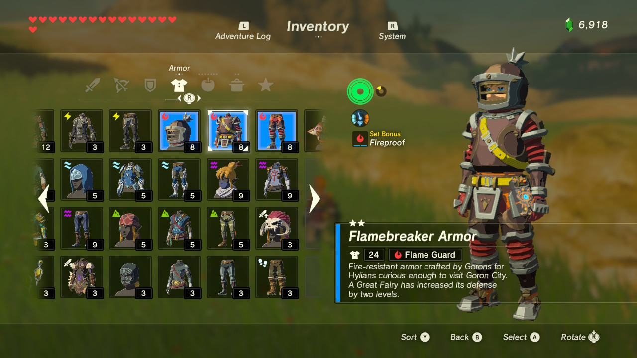 Legend Of Zelda Breath Of The Wild Best Armor Sets