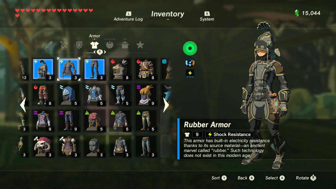 Zelda Botw Armor Sets >> Legend of Zelda: Breath of the Wild - Best Armor Sets ...