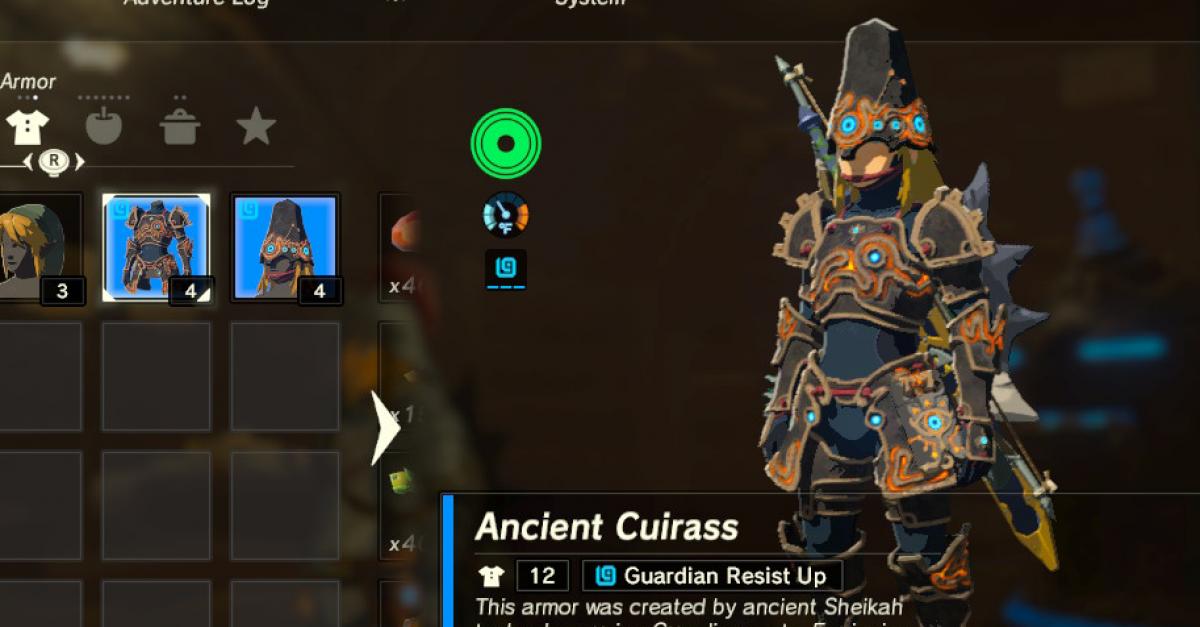Legend Of Zelda Breath Of The Wild Best Armor Sets