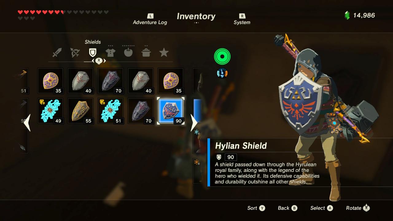 legend of zelda breath of the wild hylian shield guide best