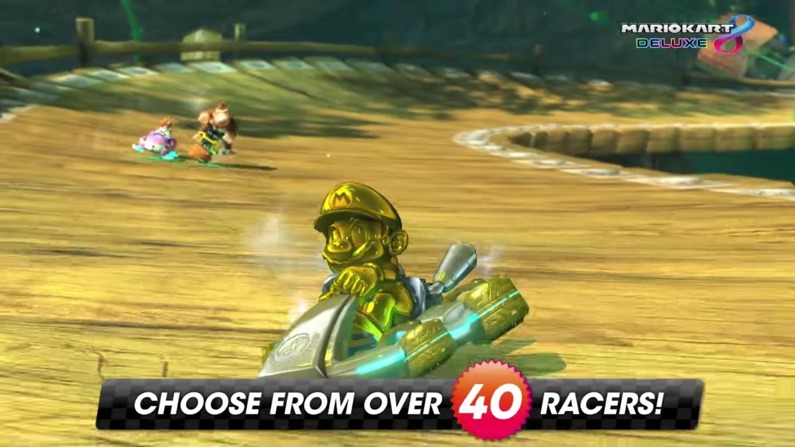 Mario Kart 8 Deluxe How To Unlock Gold Mario Secret