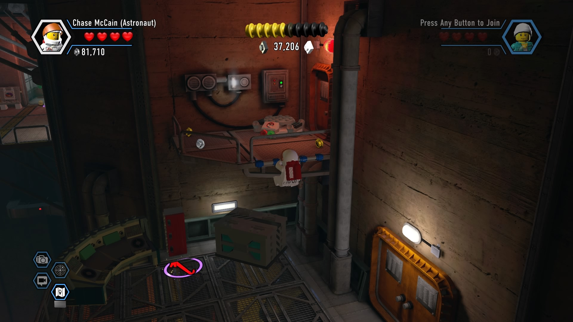 Lego City Undercover Walkthrough Chapter 13 Secret Base Guide Switch Bounce Produced On Press Now That Youre The Right Side Of Giant Cavern Fly Up To Blue White Handhold High Platform And Activate Teleporter Pad