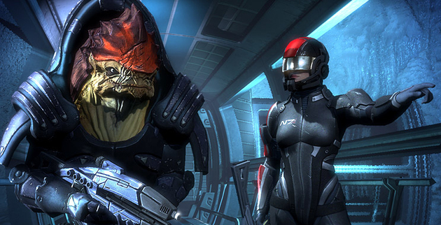 Mass Effect Screen - Femshep and Wrex