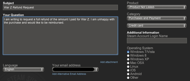 How to get your war z refund from steam the escapist image ccuart Gallery
