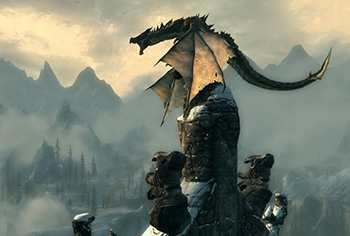 Skyrim HD texture pack dragon