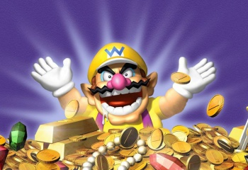 wario with treasure warioworld