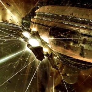 EVE Online Flight of a Thousand Rifters battle