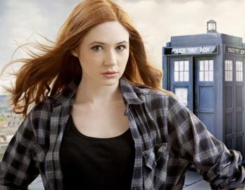 Karen Gillan (Dr. Who shot)