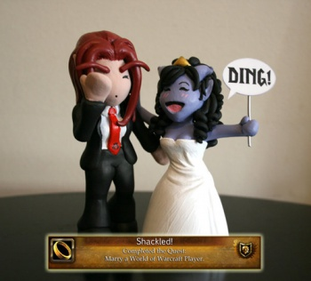 World of Warcraft Wedding Cake Topper