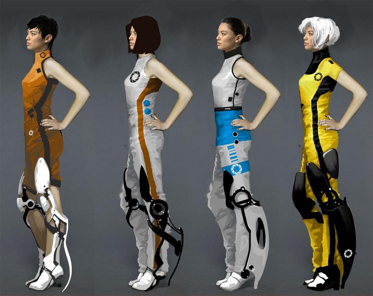 portal 2 chell concept art. Portal 2 Chell Concept Art
