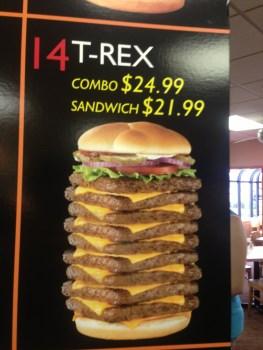 T-Rex burger ad