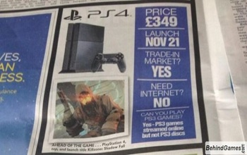 PS4 Release Date Ad