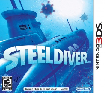 Steel Diver 3DS box art