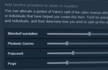 Steam Workshop royalties sliders