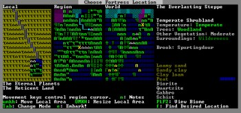 Dwarf Fortress screen