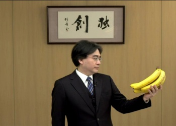 satoru iwata looks at bananas
