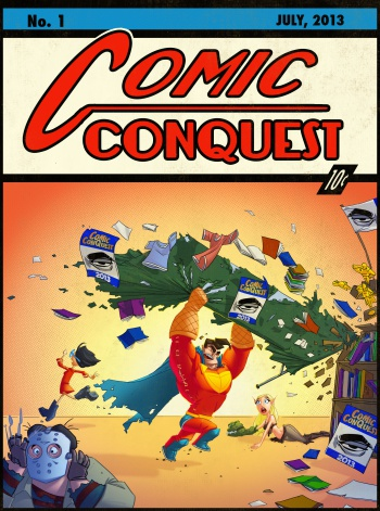 Comic ConQuest Action Comics spoof