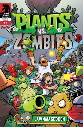 Plants Vs Zombies Lawnmageddon Issue 1 Cover