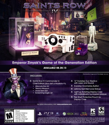 Saints Row IV Game of the Generation Edition