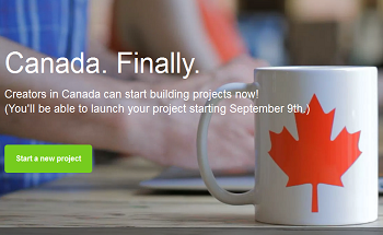 Kickstarter Canada