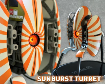 Gaming Heads Aperture Science Sunburst Turret Main