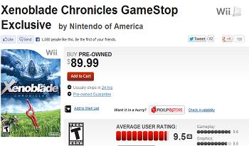 GameStop Xenoblade Price Gouge