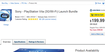 Best Buy Vita Discount