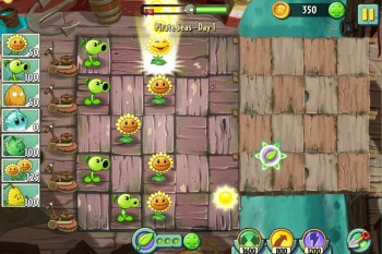 Plants vs Zombies 2 screen
