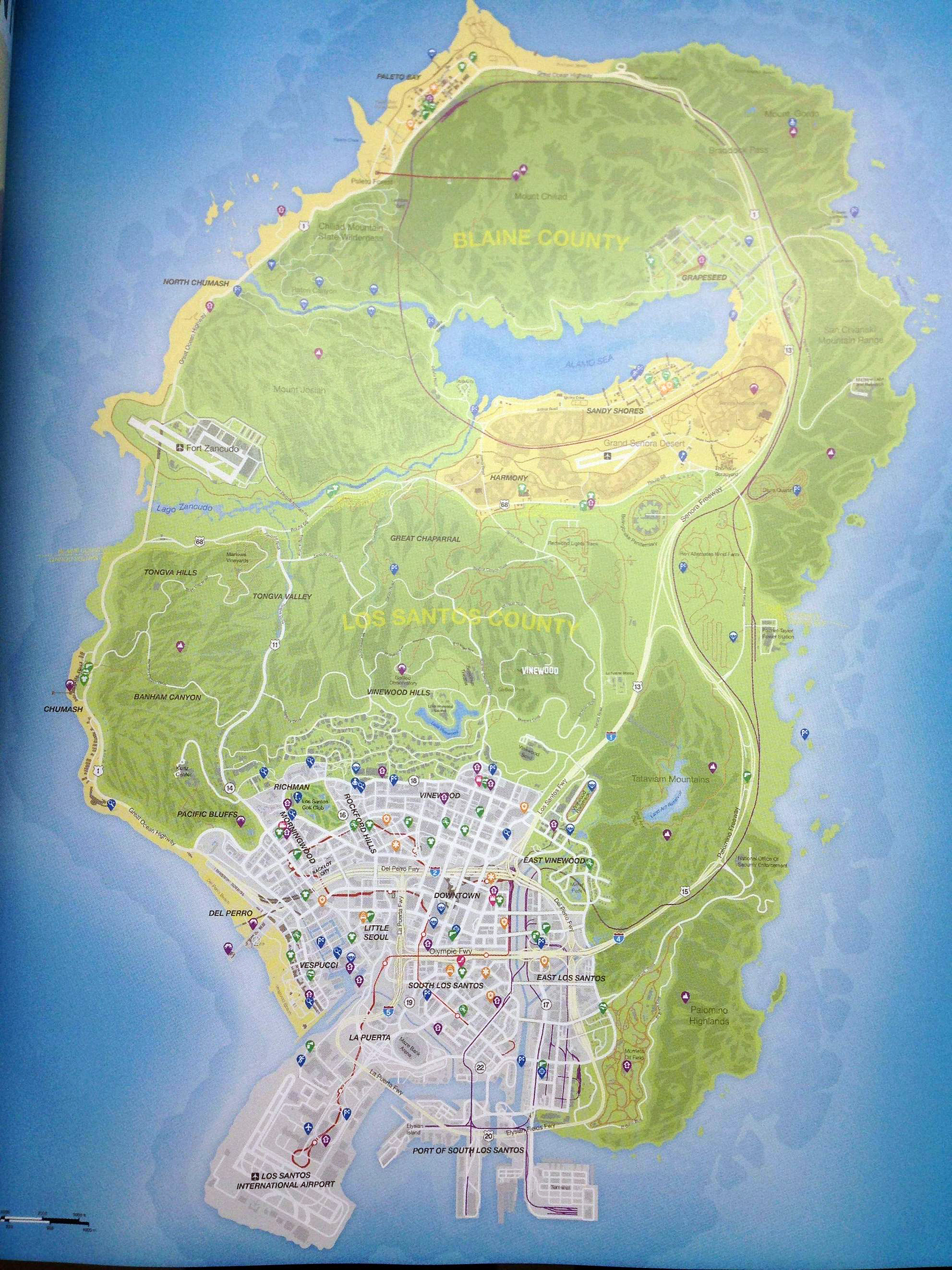 Grand Theft Auto V's Map Leaked, is Huge