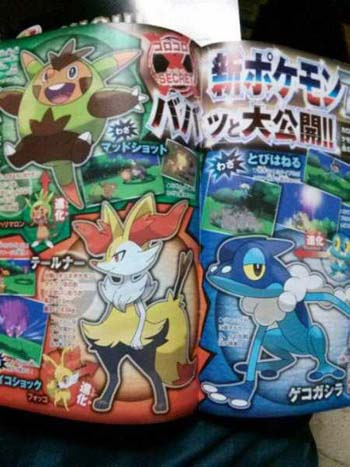 Pokemon X and Y starter middle evolutions