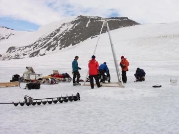 BAS Antarctic drill team