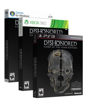 Dishonored: Game of the Year Edition boxes