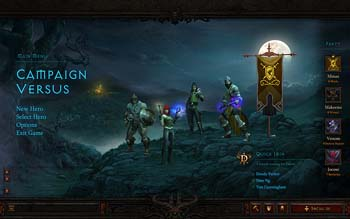 Diablo III interface