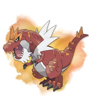 Tyrantrum, the evolved form of Tyrunt