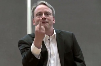 linus torvalds gives nvidia the finger