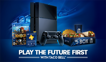 Play the Future First Sony and Taco Bell promotion