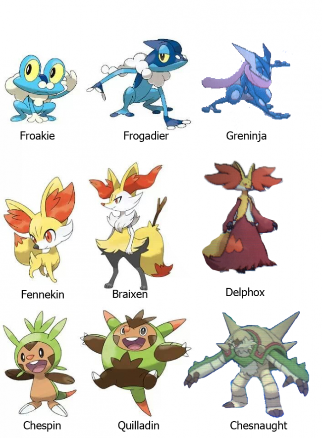 Update: Pokemon X and Y Starters' Final Evolutions Revealed
