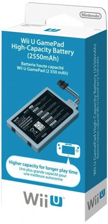 Wii U gamepad extended battery