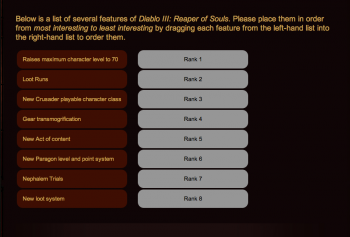 diablo III survey