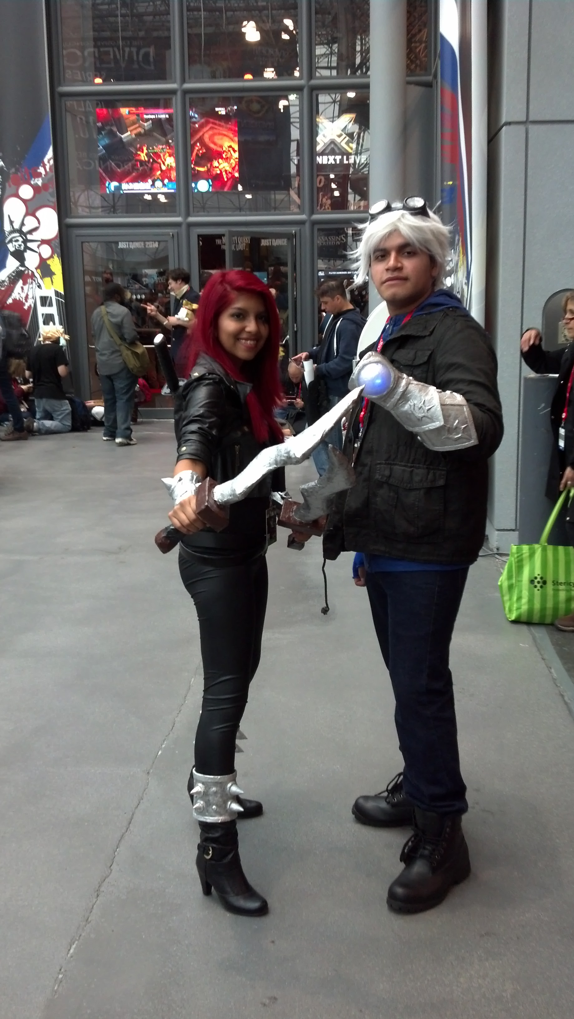 Katarina and Ezreal who I found checking their con map.