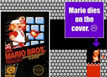 Mario Dies On The Cover Of Super Mario Bros The Escapist