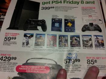 target ps4 launch flyer